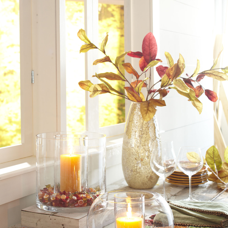Gold Luster Mosaic Glass Vase