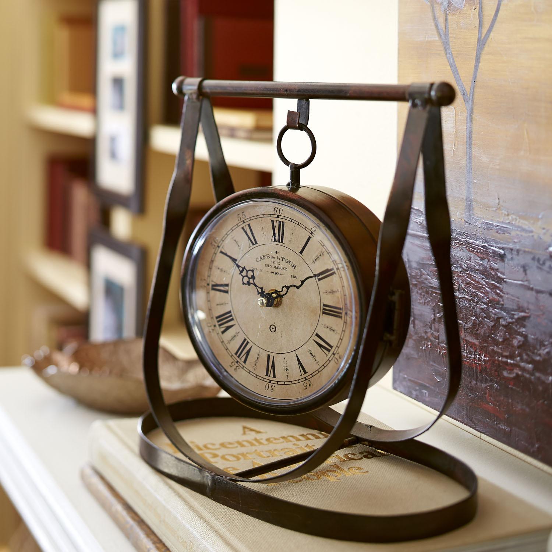 Time & Temperature Hanging Desk Clock