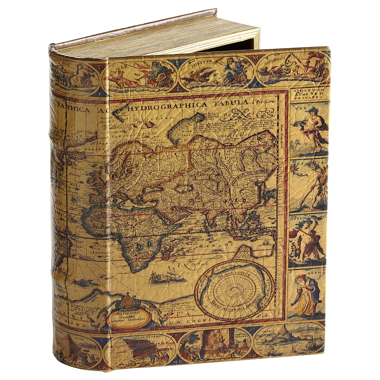 World Map Book Box