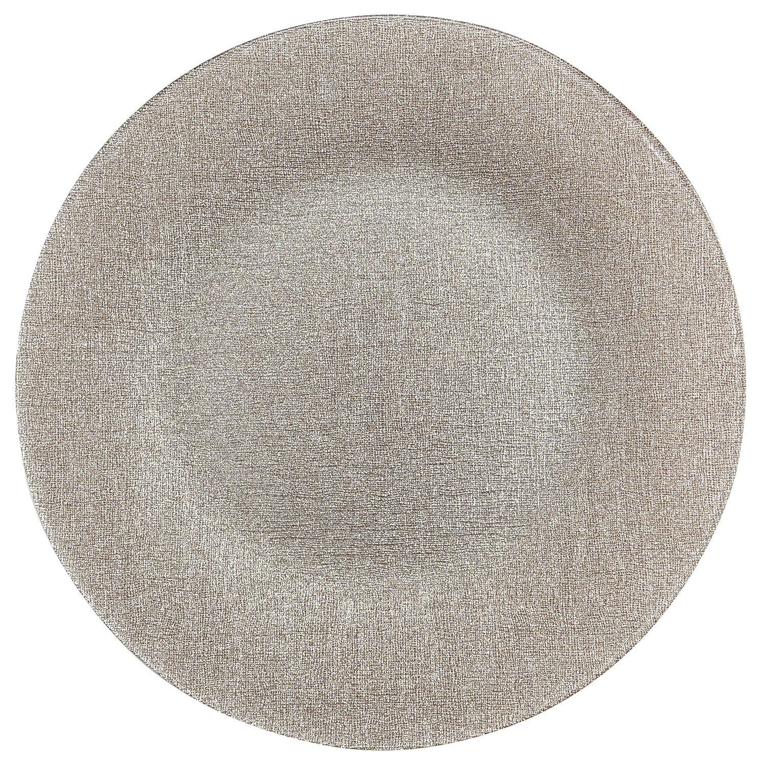 Champagne Glitter Glass Charger Plate