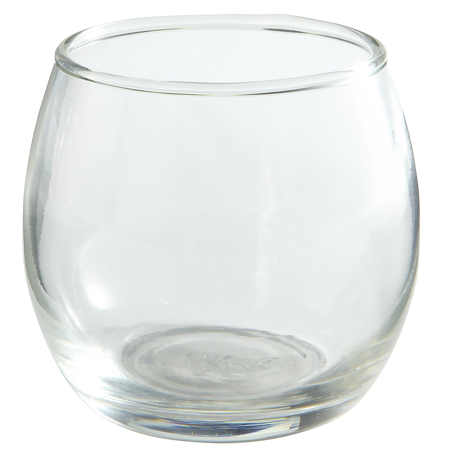 Roly Poly Clear Glass Votive Holder