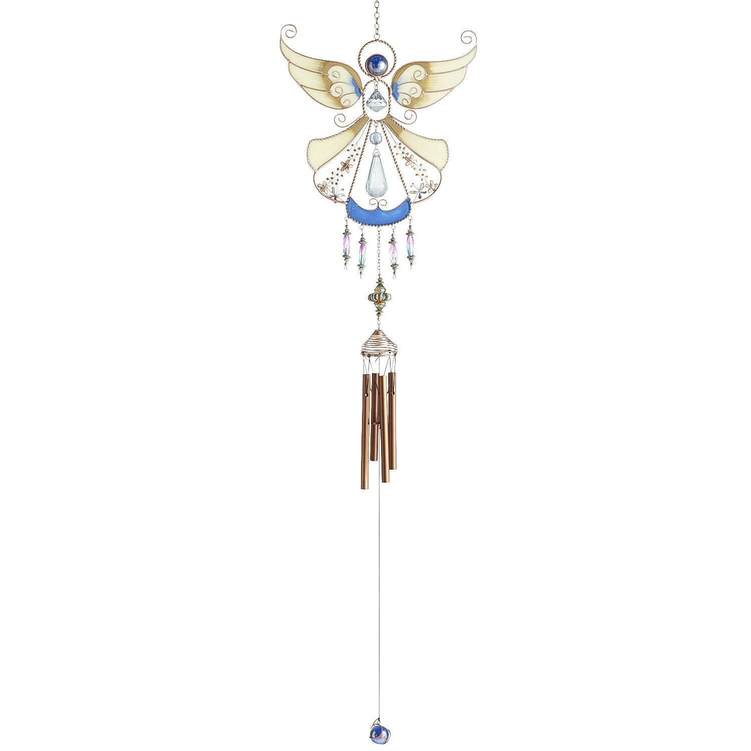Glow-in-the-Dark Angel Wind Chimes