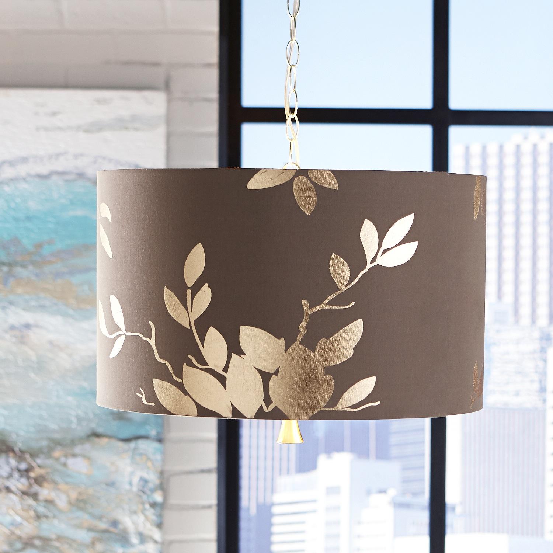 Gold Leaf Pendant Light