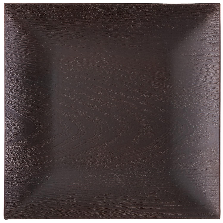 Wood Grain Melamine Charger Plate