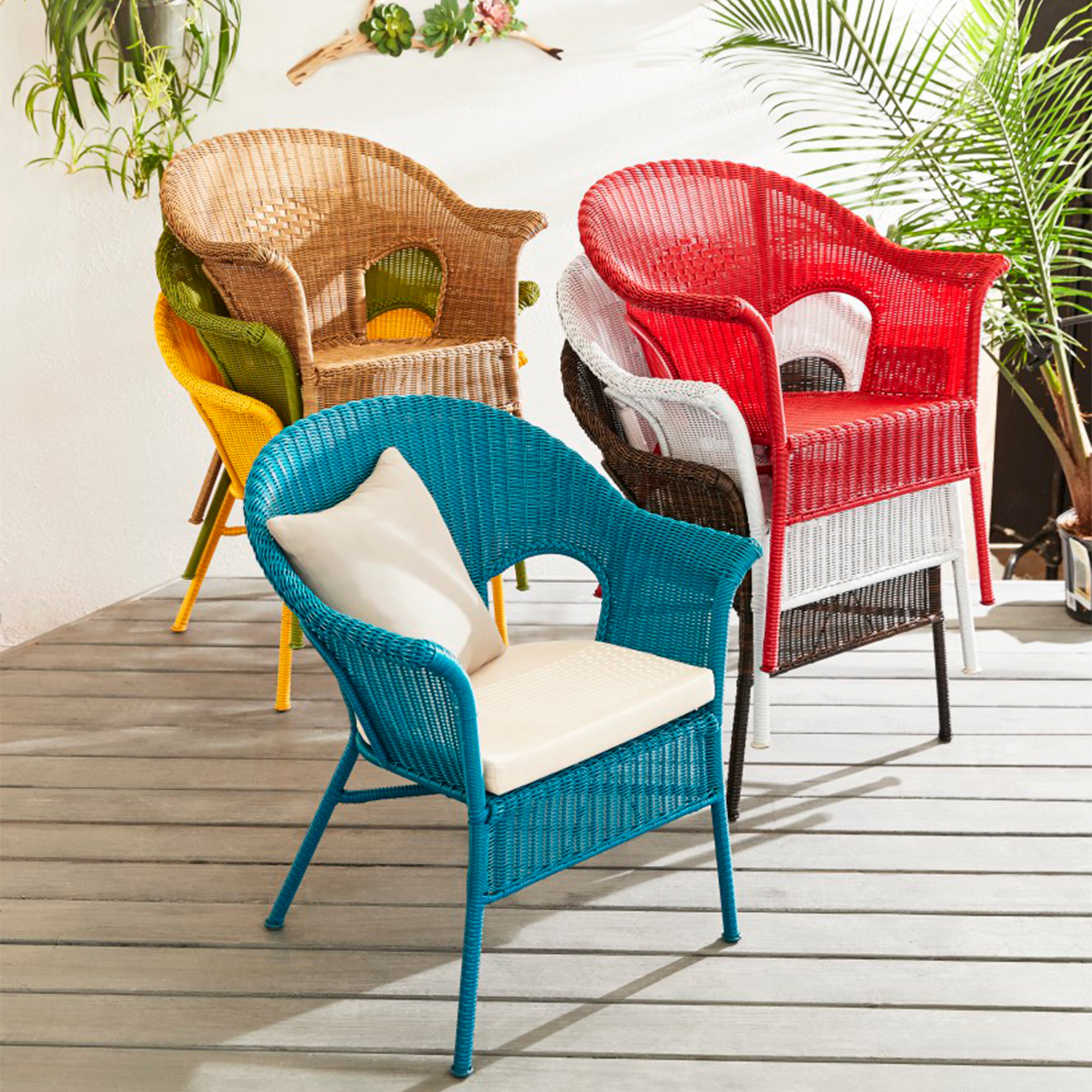 Casbah Red Stacking Chair