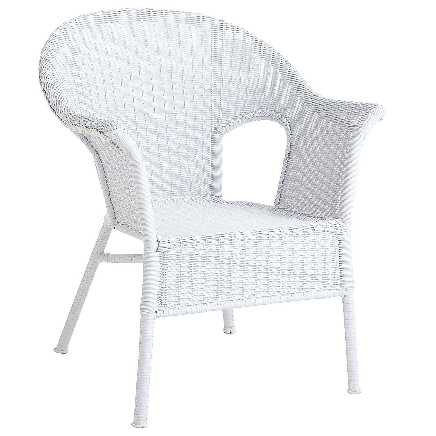 Casbah White Stacking Chair