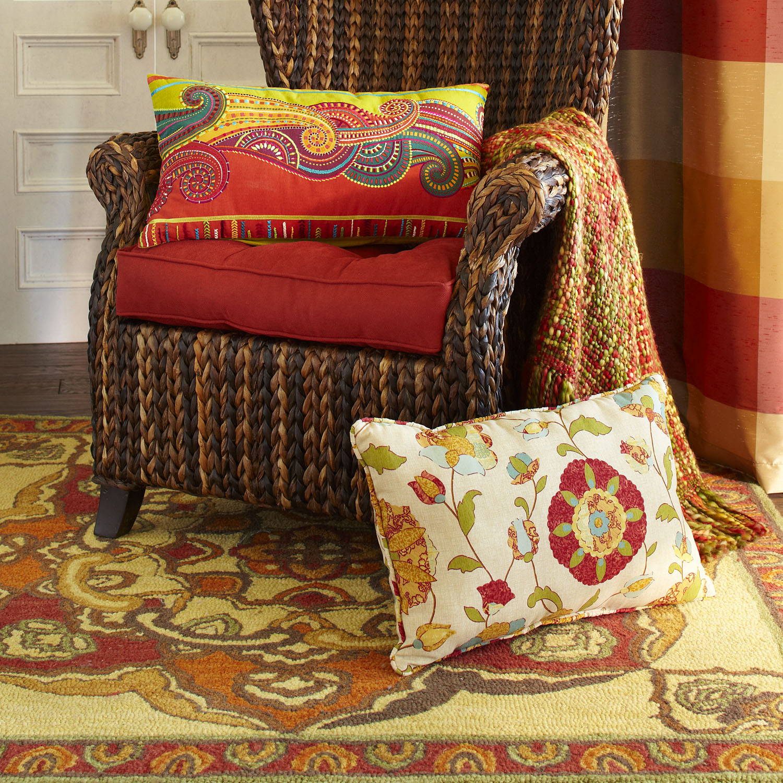 Floral Terrace Lumbar Pillow