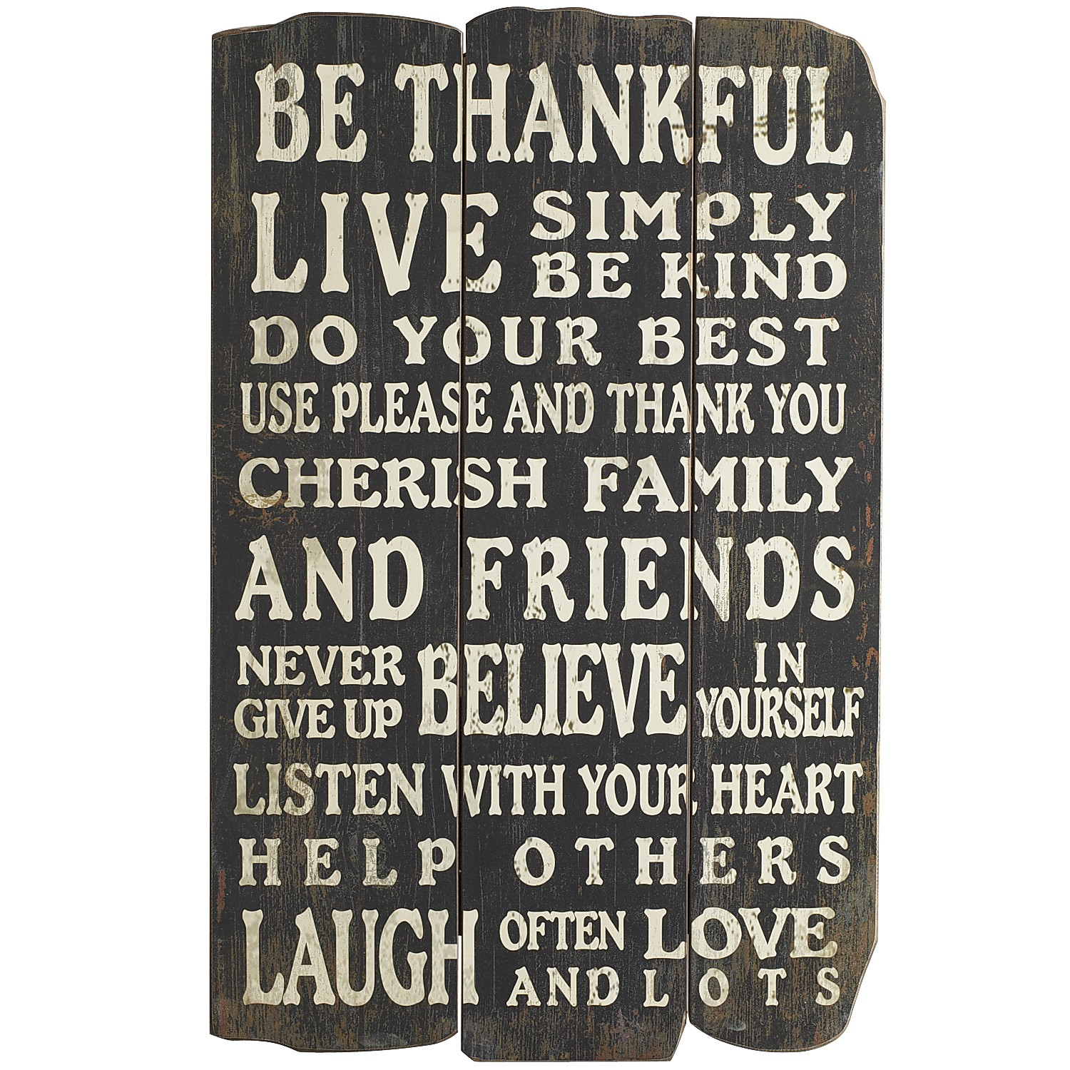 Black Thankful Wall Decor