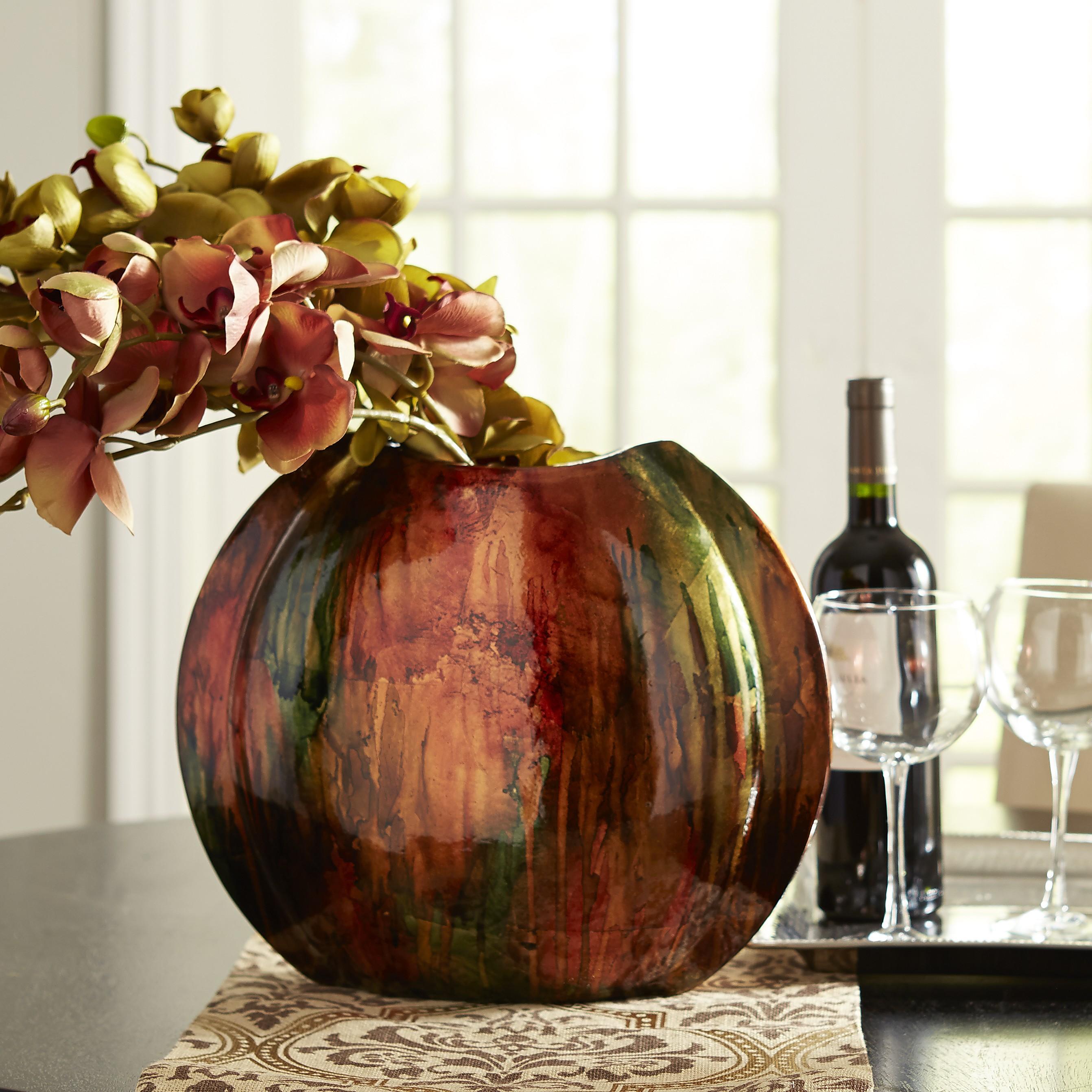 Flat Foil Ceramic Vase