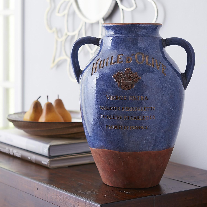 Blue Huile d'Olive Vase