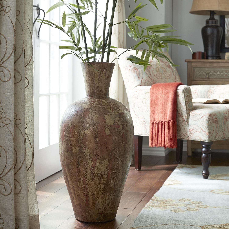 Bella Terracotta Floor Vase