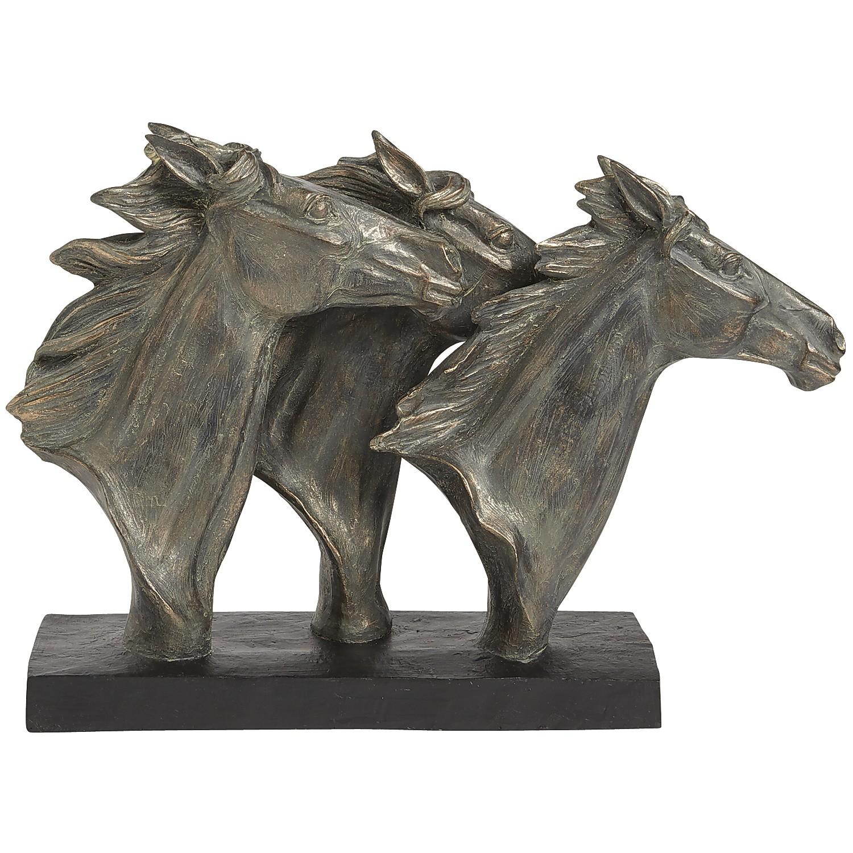 Horse Heads Sculpture