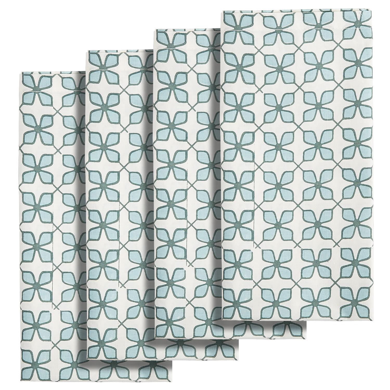 Aqua Tile Print Napkin Set