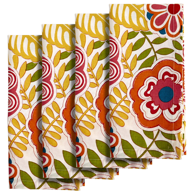 Happy Floral Print Napkin Set