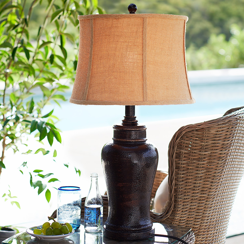 Outdoor Tuscan Lamp - Brown