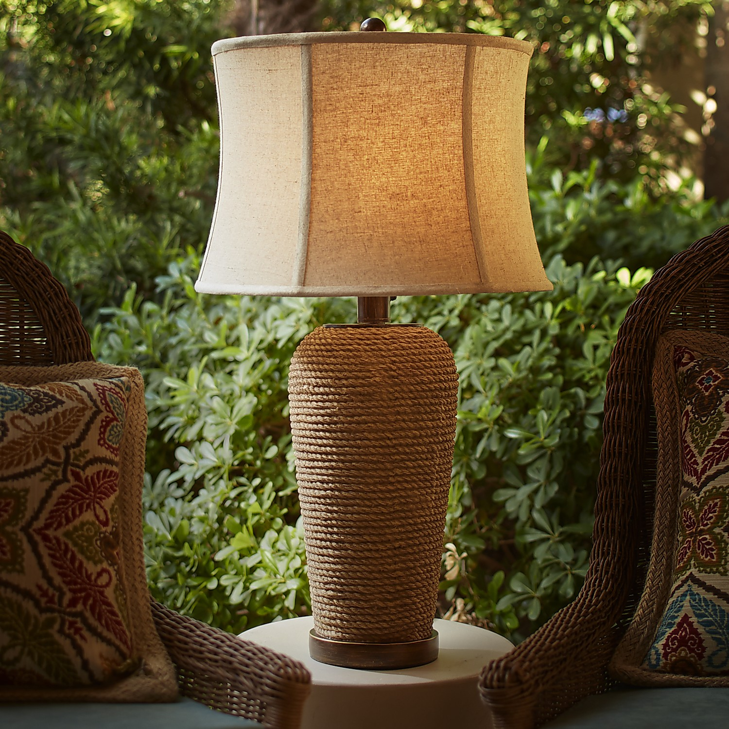 Outdoor Rope Table Lamp