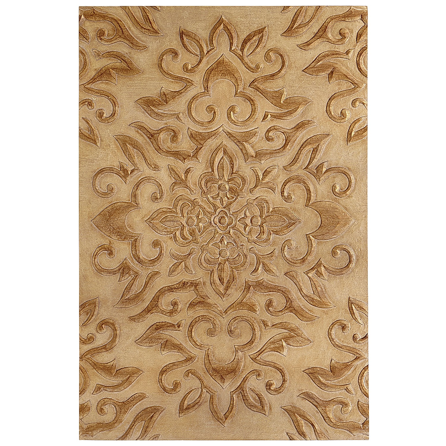 Carved Medallion Wall Panel