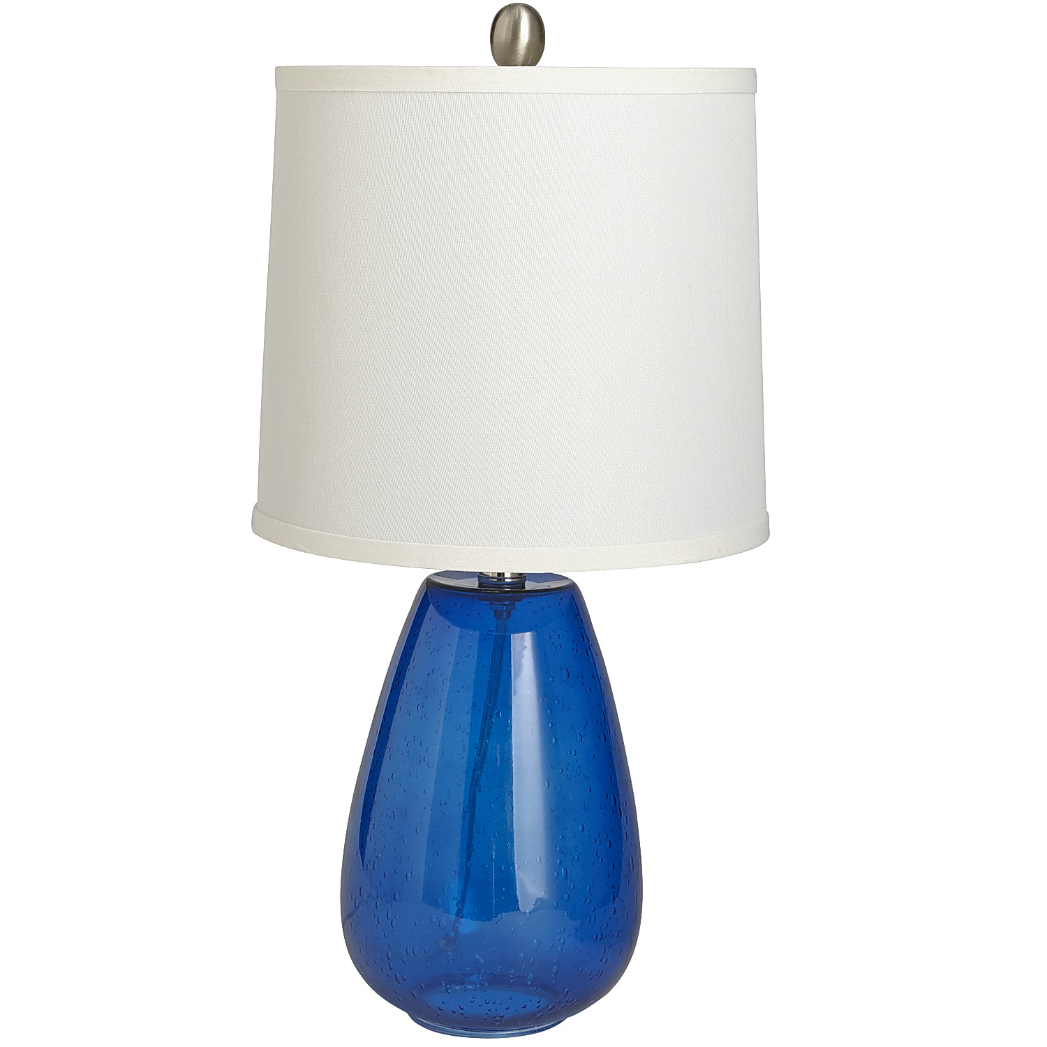 Seeded Glass Lamp - Cobalt