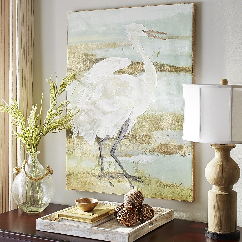 Wetland Crane Art