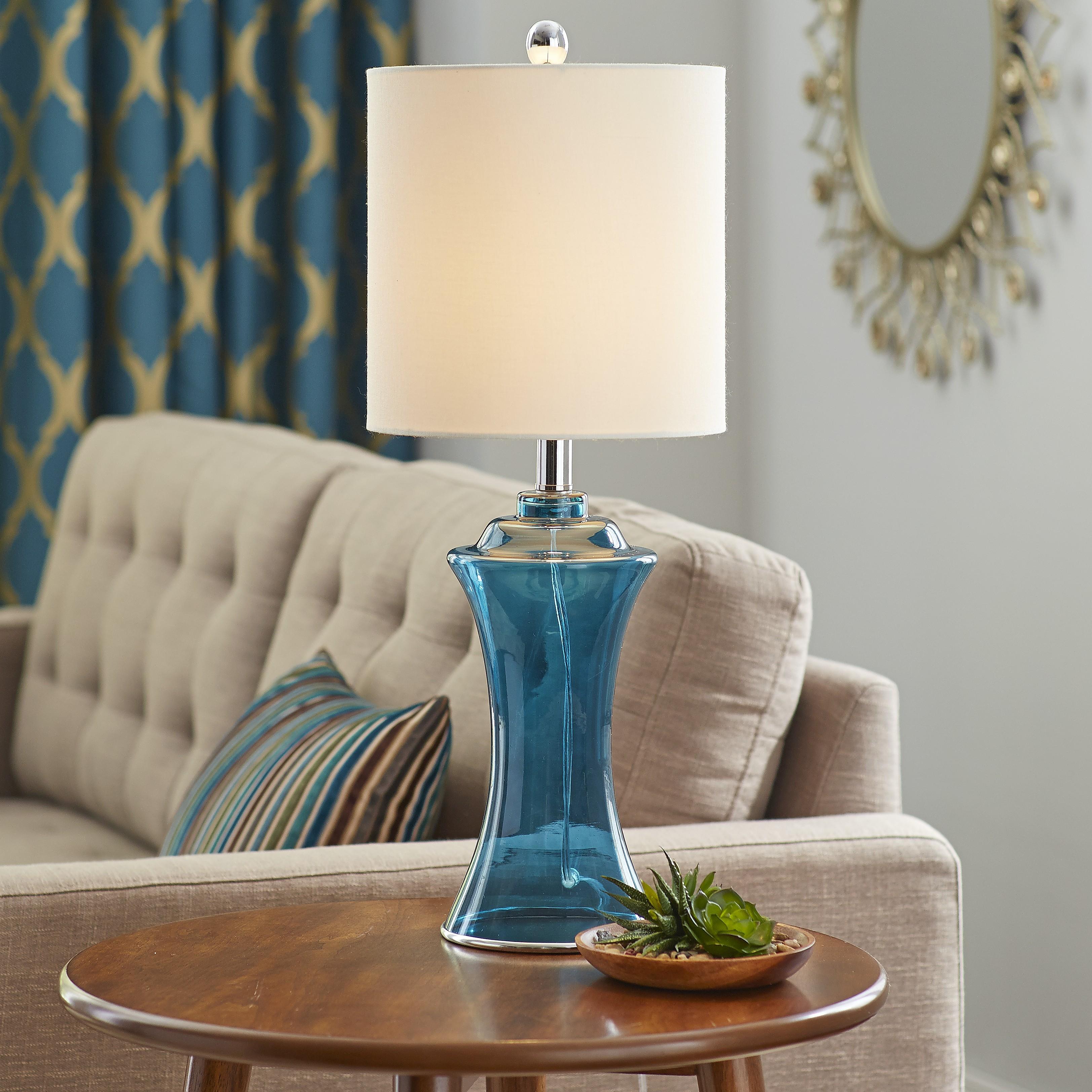 Navy Sea Glass Table Lamp