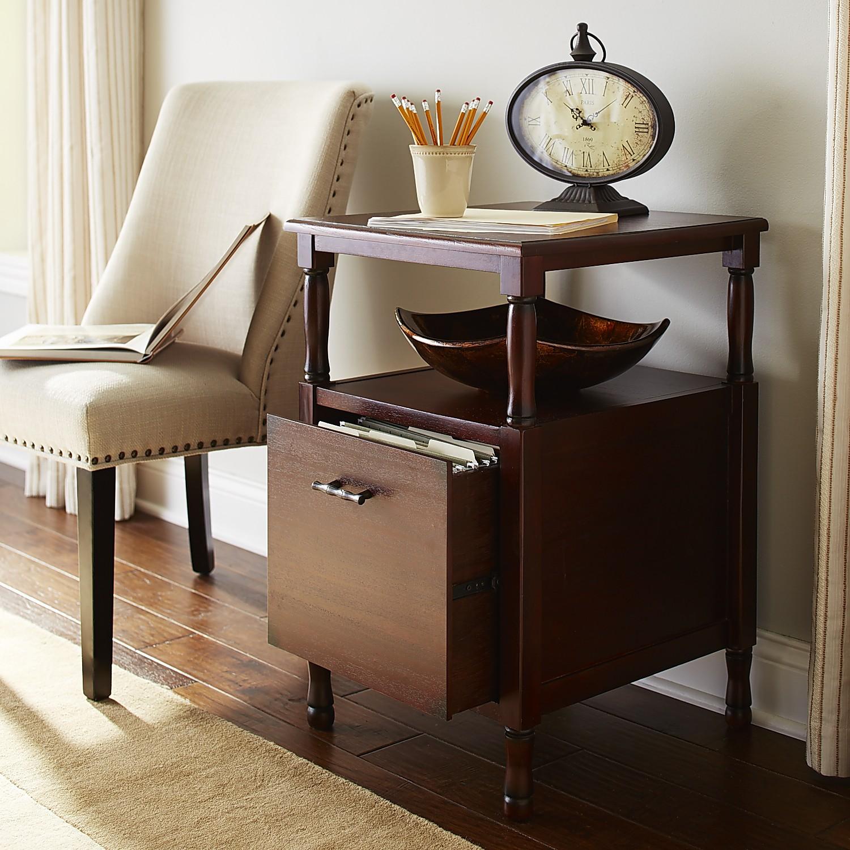Natura Mahogany Brown File Cabinet