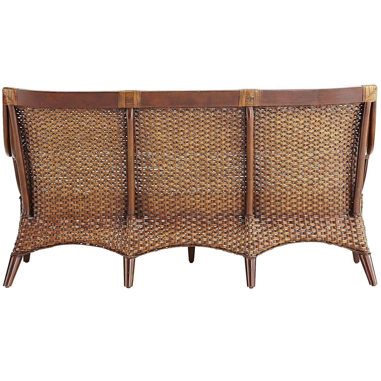 Temani Brown Wicker Sofa
