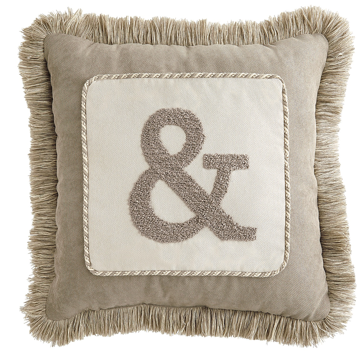 Calliope Monogram Pillow - Birch Ampersand