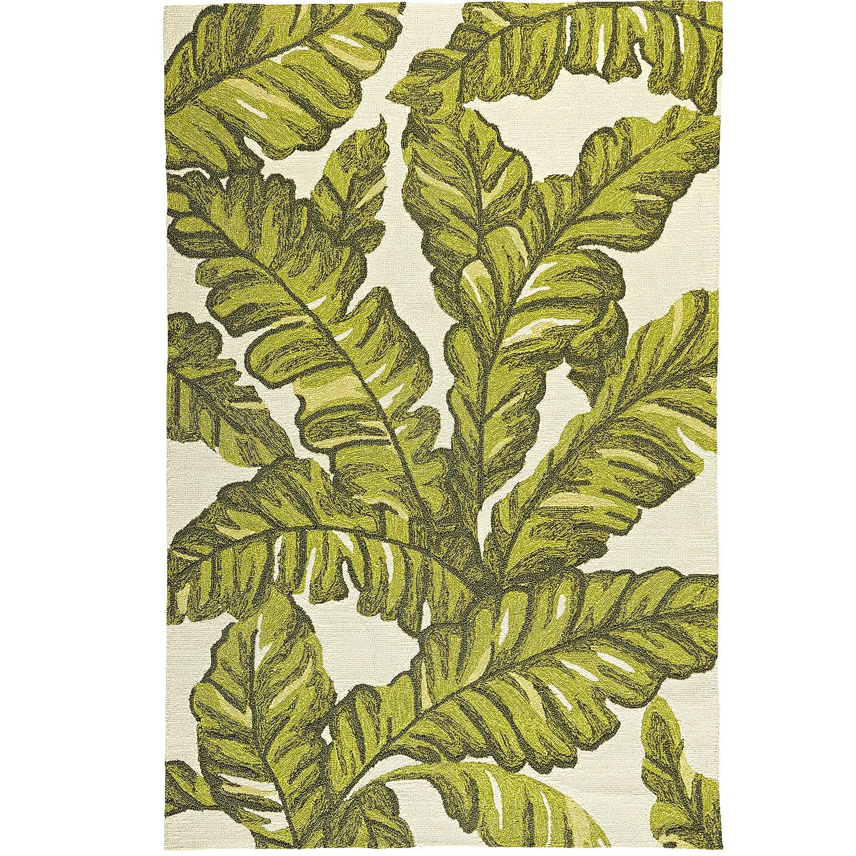 Tropical Leaves Rug - 8x10