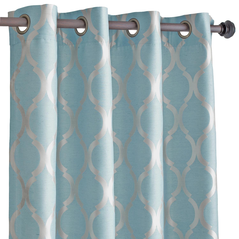 "Moorish Tile Smoke Blue 120"" Curtain"