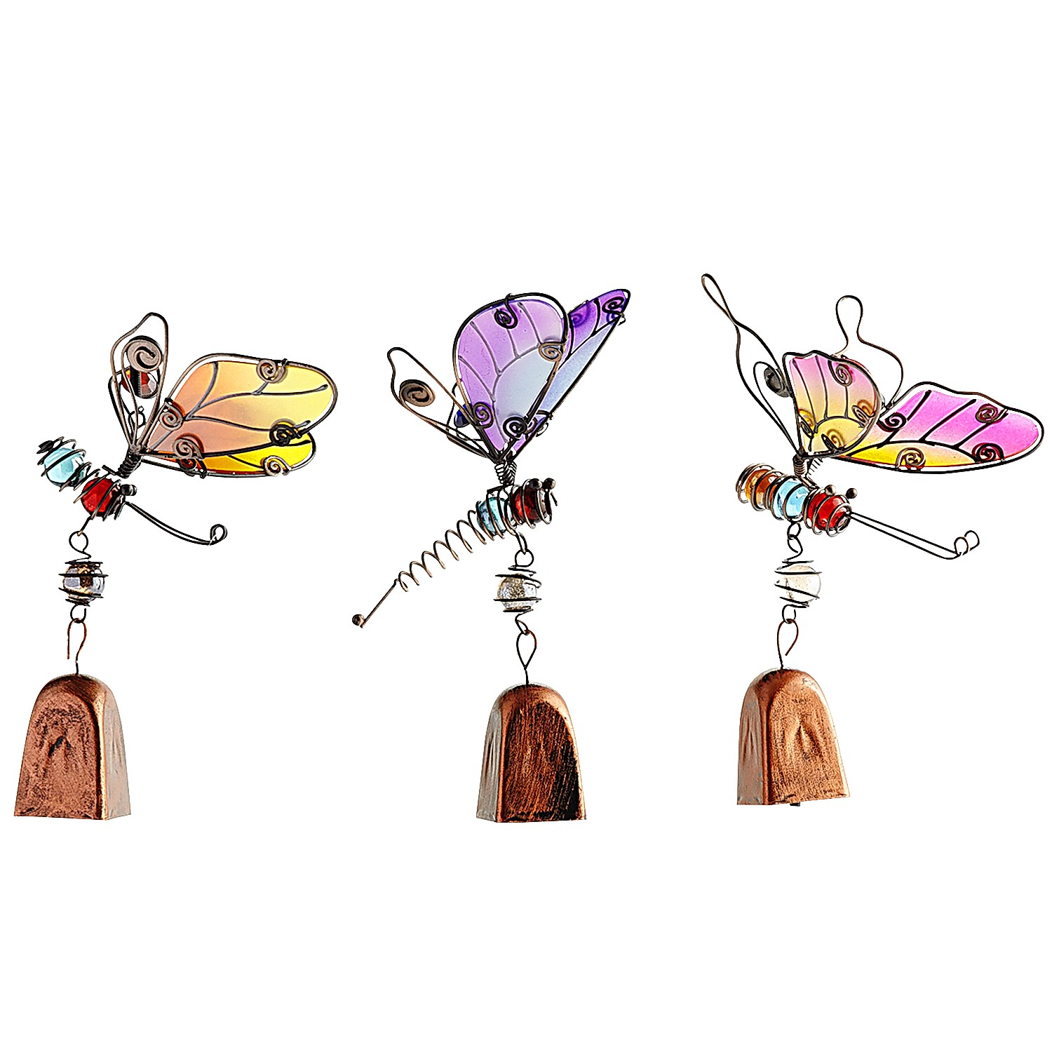 Flying Critters Bell Clips Set