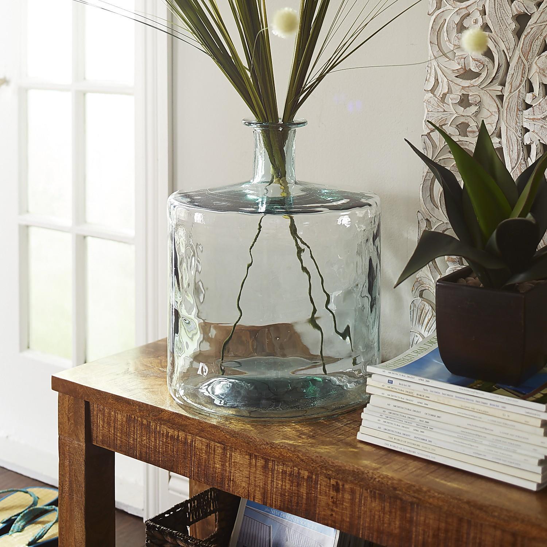 Recycled Glass Floor Vase