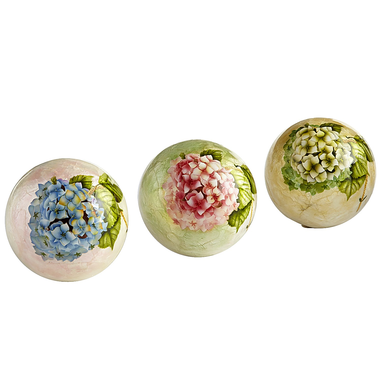 Capiz Hydrangea Sphere Set