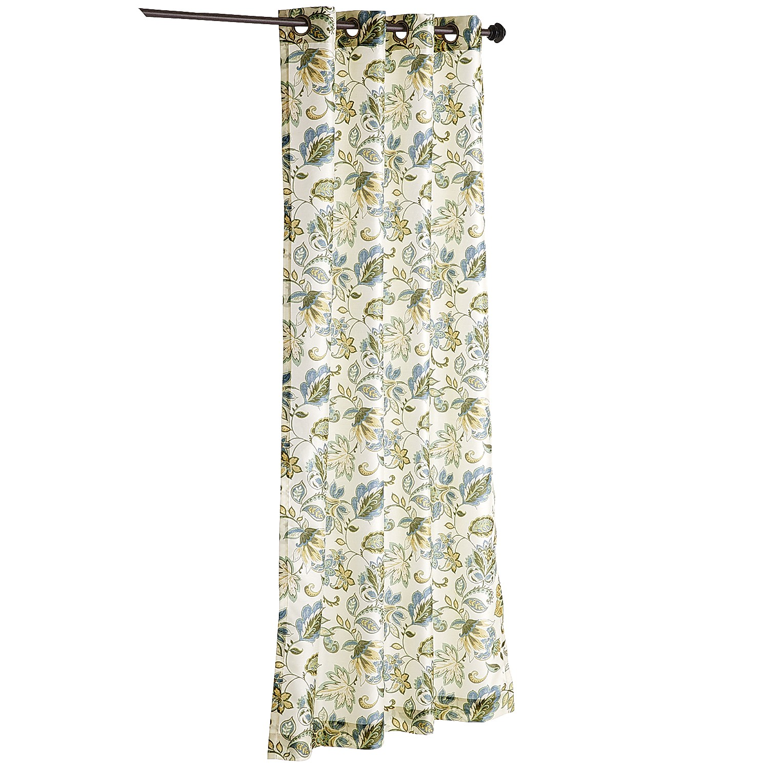 "variation thumbnail of Glencove Floral Blue 120"" Grommet Curtain"