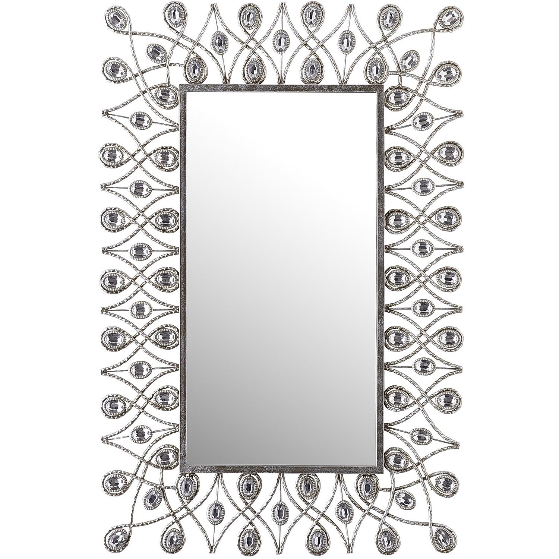 Silver Stardust 24x36 Mirror