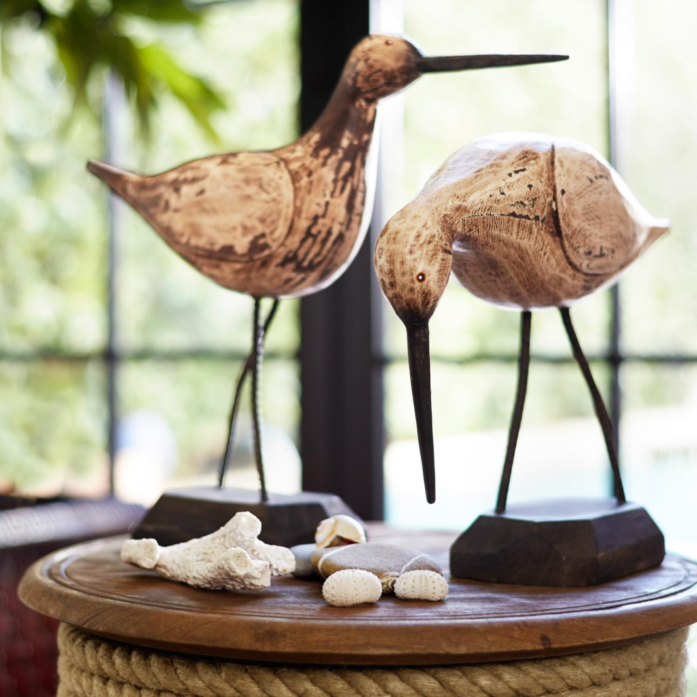 Wooden Sandpiper - Head Down