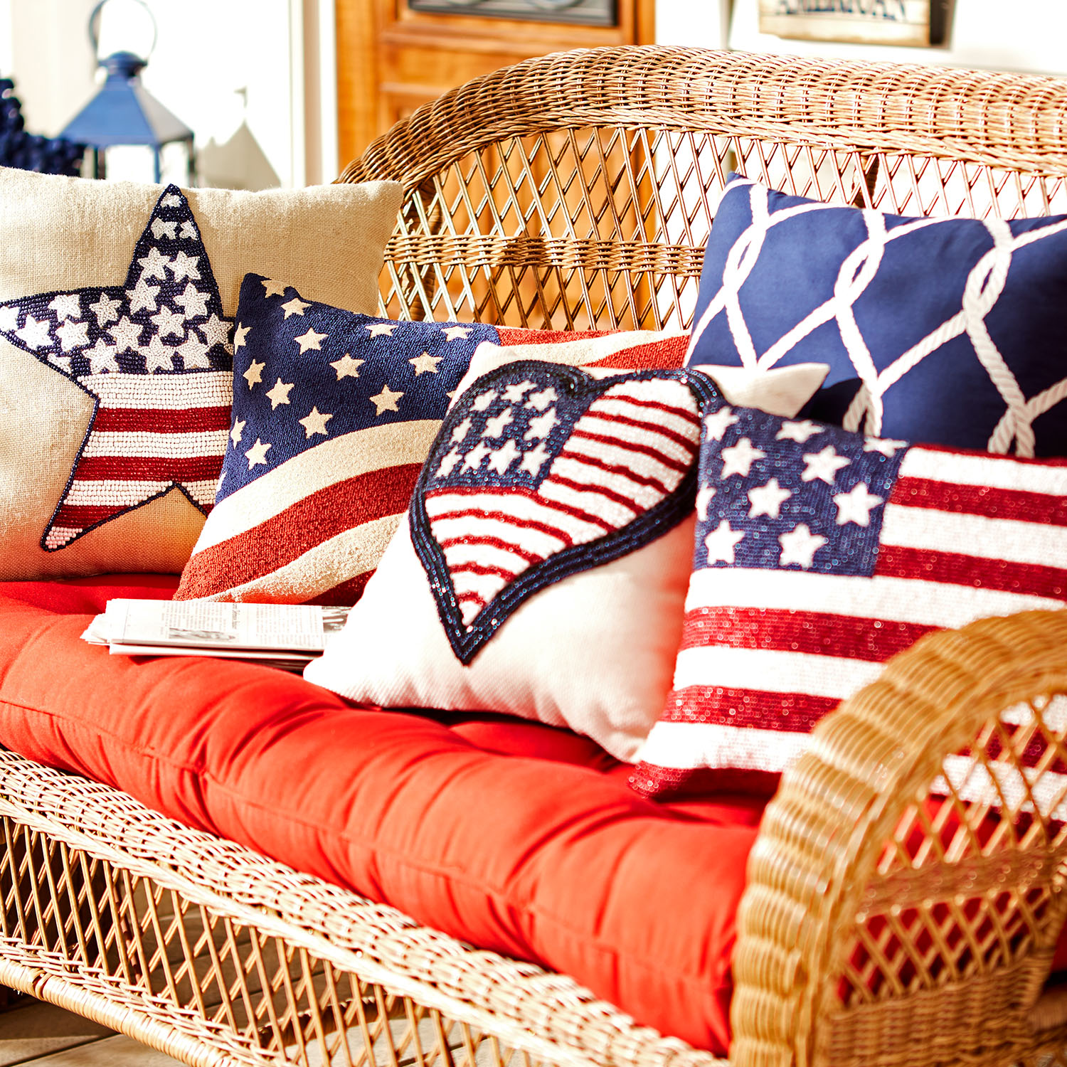 variation thumbnail of American Flag Tapestry Pillow