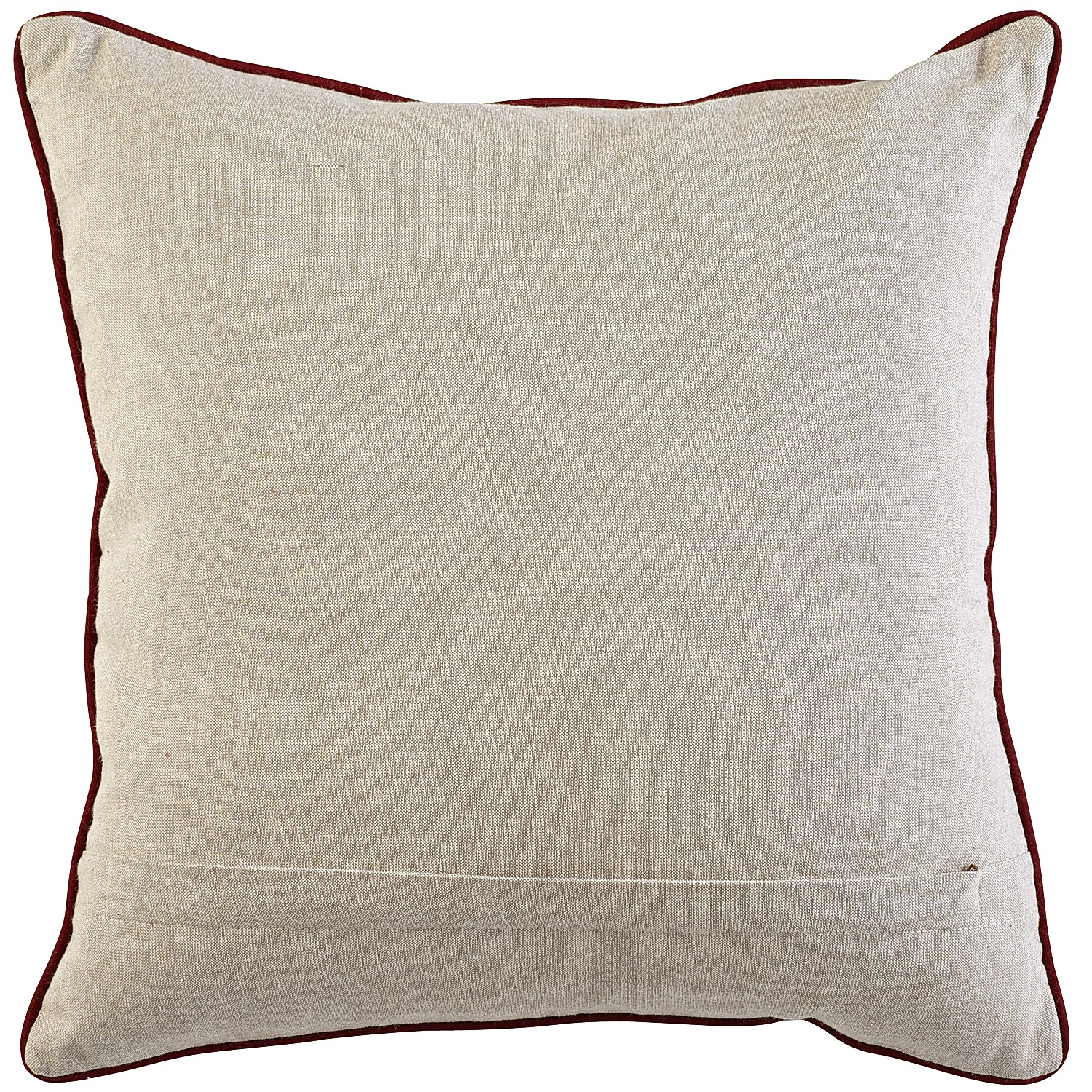 Beaded Red Anchor Pillow