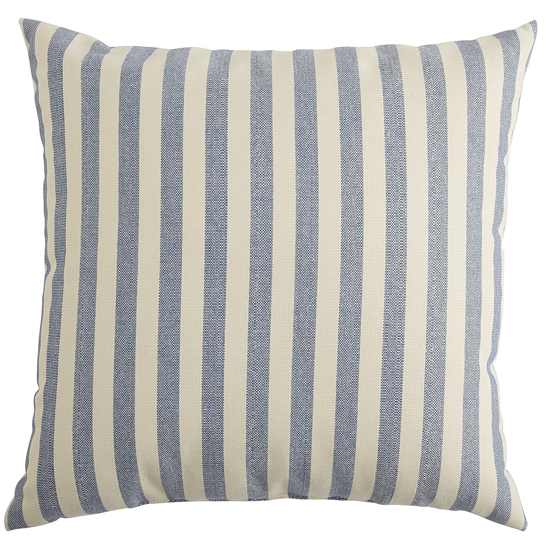 Blue Woven Stripe Pillow