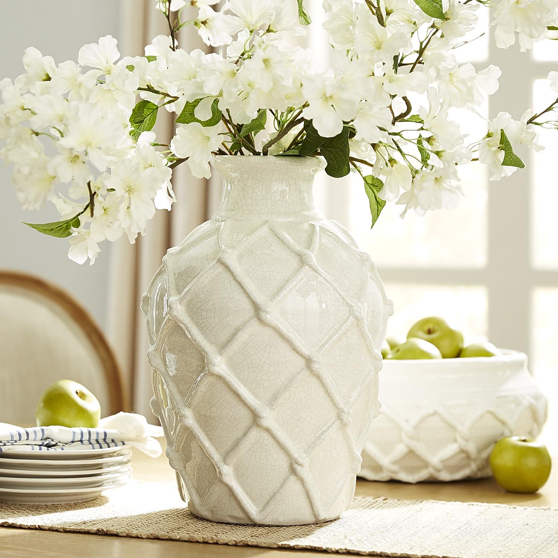 Woven Diamond Vase