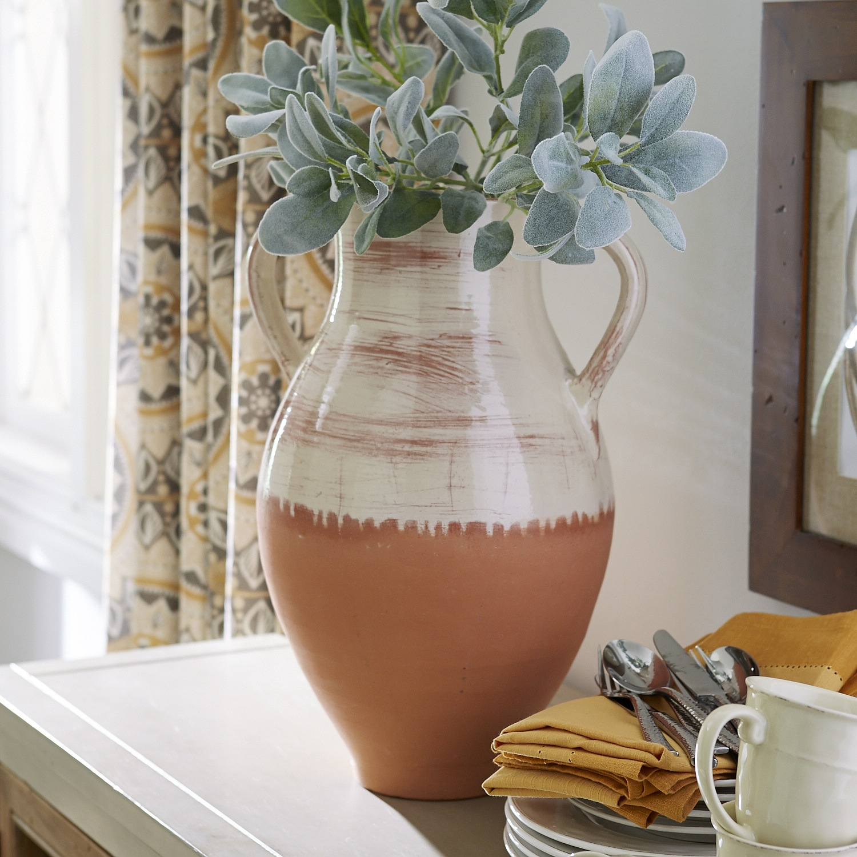 Terracotta Two-Tone Vase