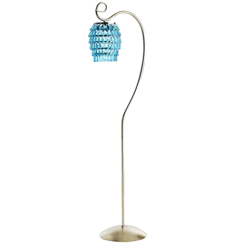 Swirls & Drops Floor Lamp - Aqua