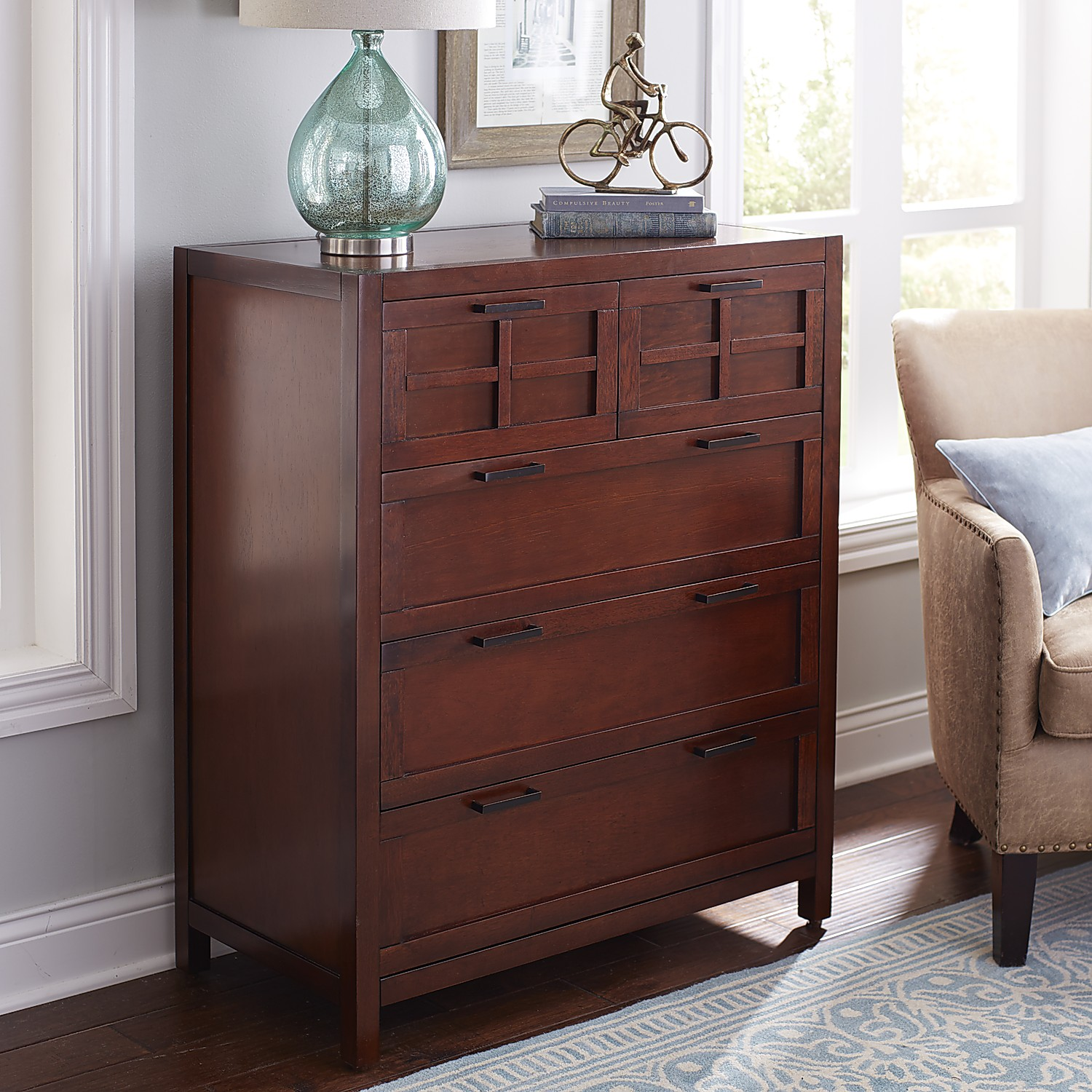 Sausalito Mahogany Brown Chest