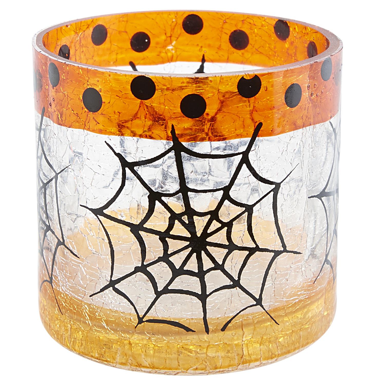Crackle Spider Votive Holder