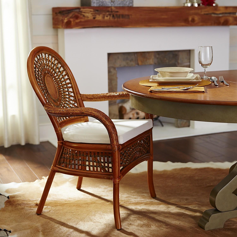 Azteca Dining Armchair - Pecan Brown