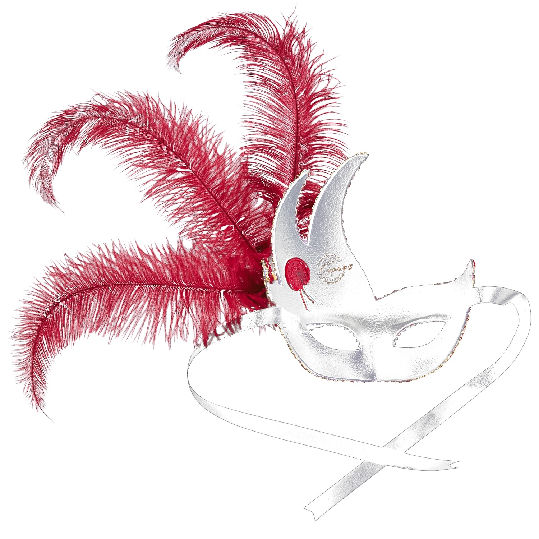 Onda Feather Italian Masquerade Mask