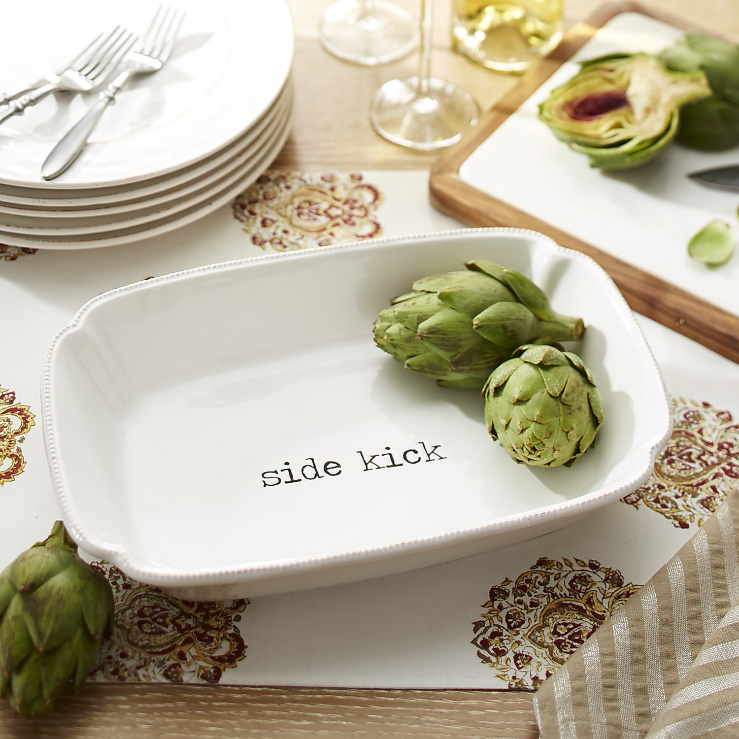 Farmhouse Side Kick Serving Bowl