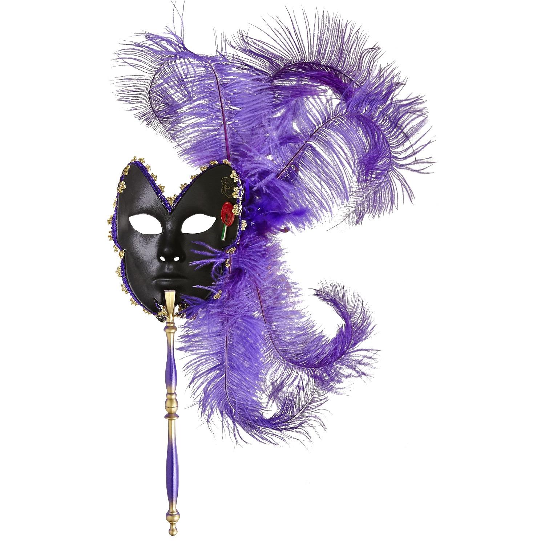 Butterfly Stick Italian Masquerade Mask