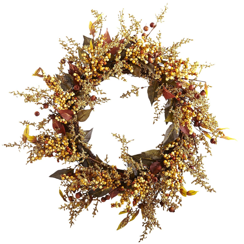 Faux Berry Wreath - Cream