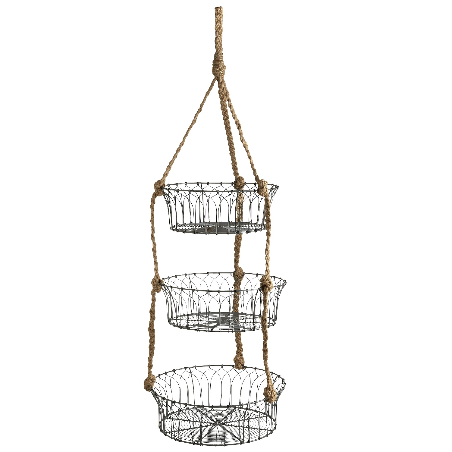 Hanging Veggie Basket with Rope