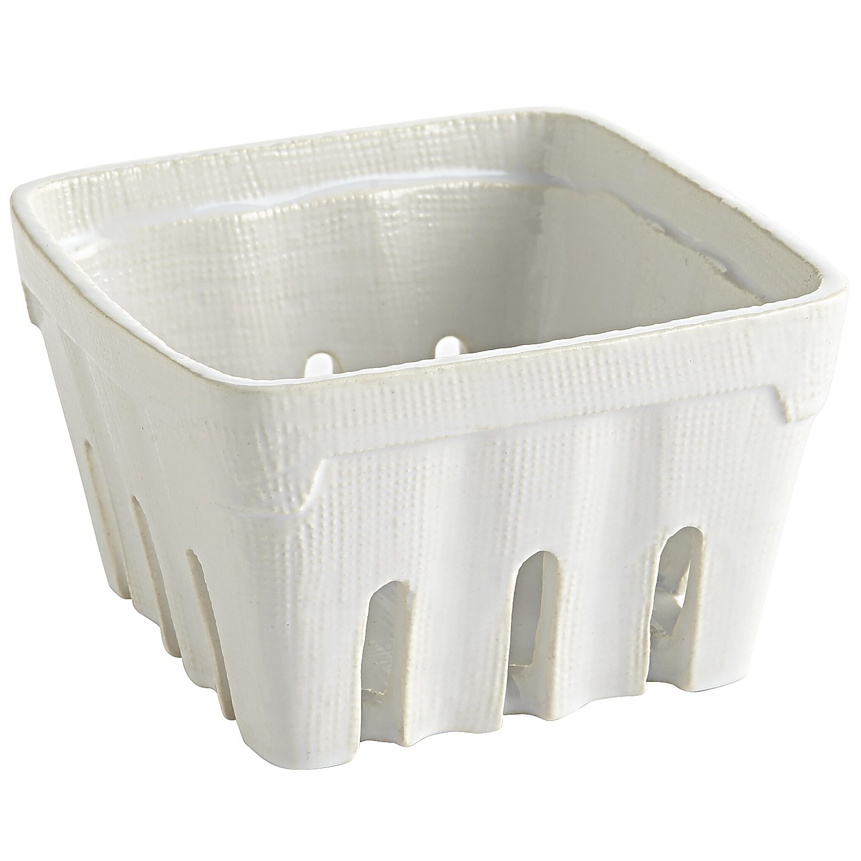 White Berry Basket